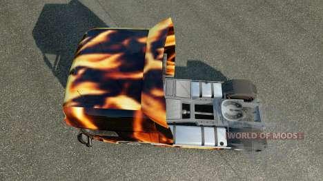 La peau de Feu sur le camion DAF pour Euro Truck Simulator 2