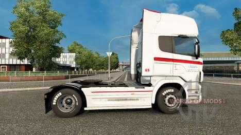 La peau Coppenrath & Wiese sur le tracteur Scani pour Euro Truck Simulator 2