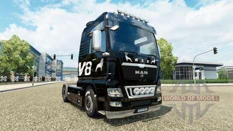 Haut MAN V8 truck MAN für Euro Truck Simulator 2