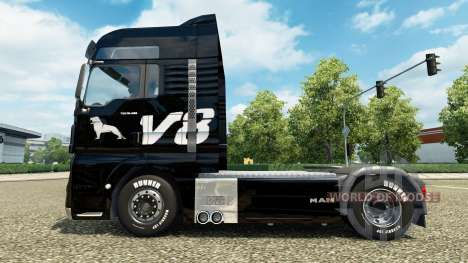 La peau de l'HOMME V8 camion de l'HOMME pour Euro Truck Simulator 2