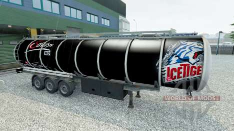 La peau de Nuremberg Ice Tigers sur la remorque pour Euro Truck Simulator 2