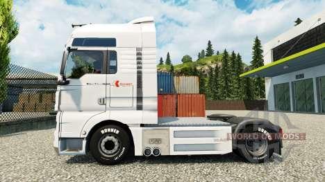 La peau Klaus Bosselmann sur le camion de l'HOMM pour Euro Truck Simulator 2