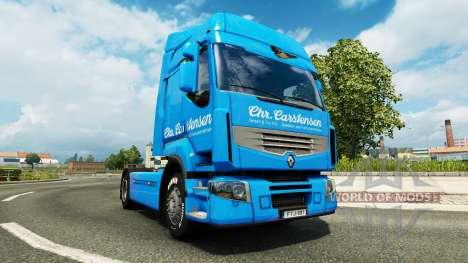 Carstensen Haut für Renault-LKW für Euro Truck Simulator 2