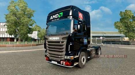 AMD FX de la peau pour Scania camion pour Euro Truck Simulator 2