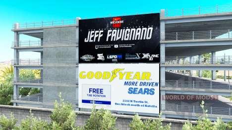 La publicité sur les panneaux d'affichage v1.1 pour American Truck Simulator