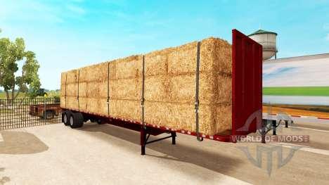 Semi-remorque à plate-forme pour American Truck Simulator
