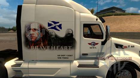 Peterbilt 579 Braveheart Truck Skin für American Truck Simulator