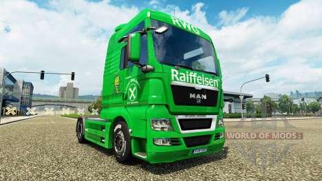 Raiffeisen de la peau sur le camion de l'HOMME pour Euro Truck Simulator 2