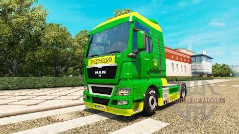 Haut John Deere für MAN LKW für Euro Truck Simulator 2