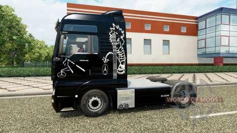 La peau de la Pisse sur le camion de l'HOMME pour Euro Truck Simulator 2