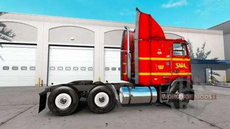 La peau sur SAIA camion Freightliner FLAG pour American Truck Simulator