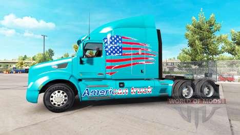 La peau American Truck camion Peterbilt pour American Truck Simulator