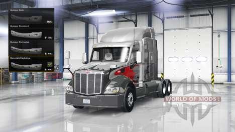Pare-chocs en Chrome sur le Peterbilt 579 pour American Truck Simulator