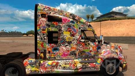 Sticker Bomb скин для Kenworth T680 für American Truck Simulator