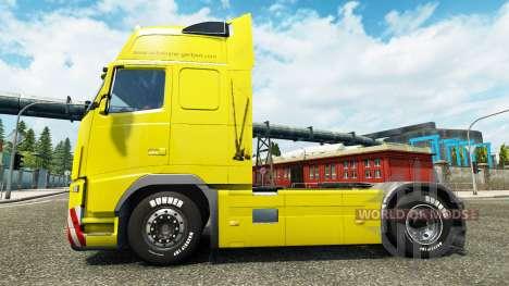 Gertzen Transporte de la peau pour Volvo camion pour Euro Truck Simulator 2