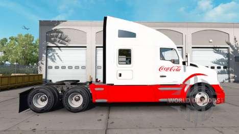 Haut Coca-Cola Kenworth-Zugmaschine für American Truck Simulator