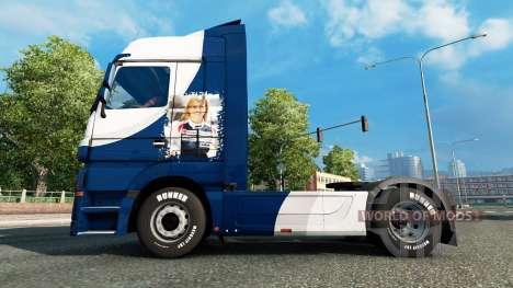 Haut-Williams-F1-Team auf die Sattelzugmaschine  für Euro Truck Simulator 2