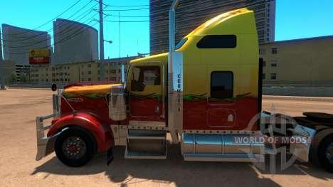 Kenworth W900 Sunny paintjob pour American Truck Simulator