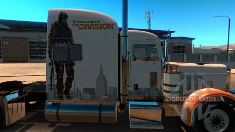 Skin The Division for Peterbilt 389 pour American Truck Simulator