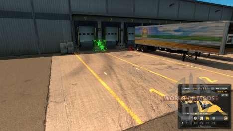 Nouvelle mise en page de déchargement Déchargeme pour American Truck Simulator