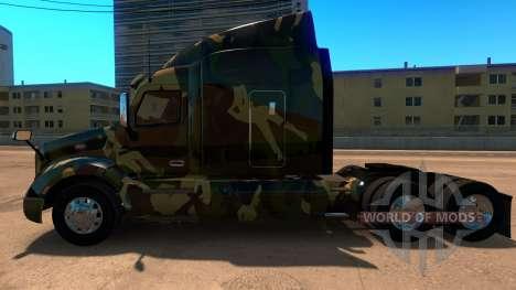La peau de Camouflage pour Peterbilt 579 pour American Truck Simulator