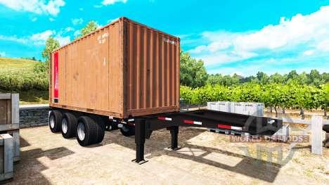 Der Auflieger mit einem 20-Pfund-container für American Truck Simulator
