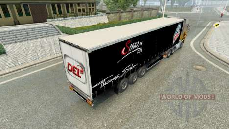 Haut Nürnberg Ice Tigers in der semi-trailer für Euro Truck Simulator 2
