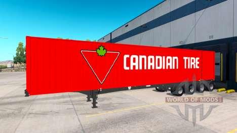 La Semi-Remorque Contenant 53 pour American Truck Simulator