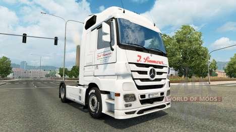 La peau de J. Simmerer sur le tracteur Mercedes- pour Euro Truck Simulator 2