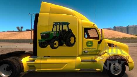 John Deere skin für Peterbilt 579 für American Truck Simulator