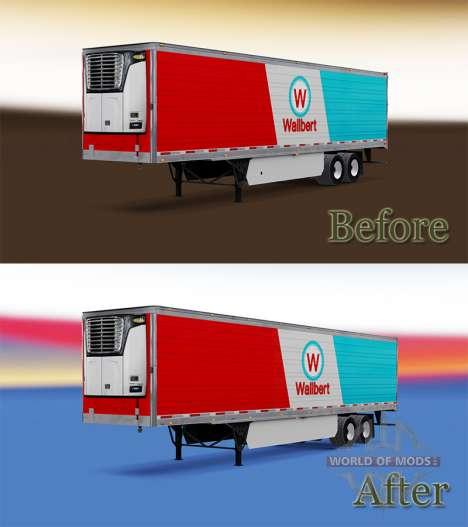 Semi-trailer-Kühlschrank für American Truck Simulator
