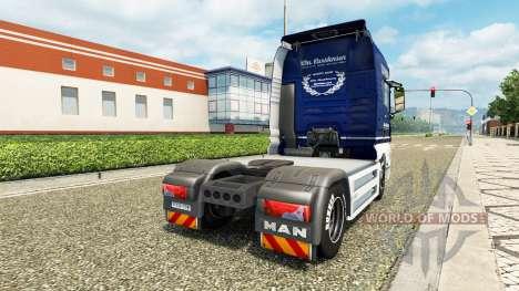 Carstensen de la peau pour camion MAN v2.0 pour Euro Truck Simulator 2