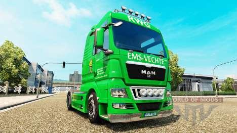 La peau de l'EMS Vechte sur le camion de l'HOMME pour Euro Truck Simulator 2