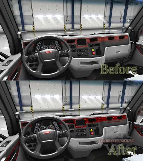 Perlmutt Innenraum in einen Peterbilt 579 für American Truck Simulator