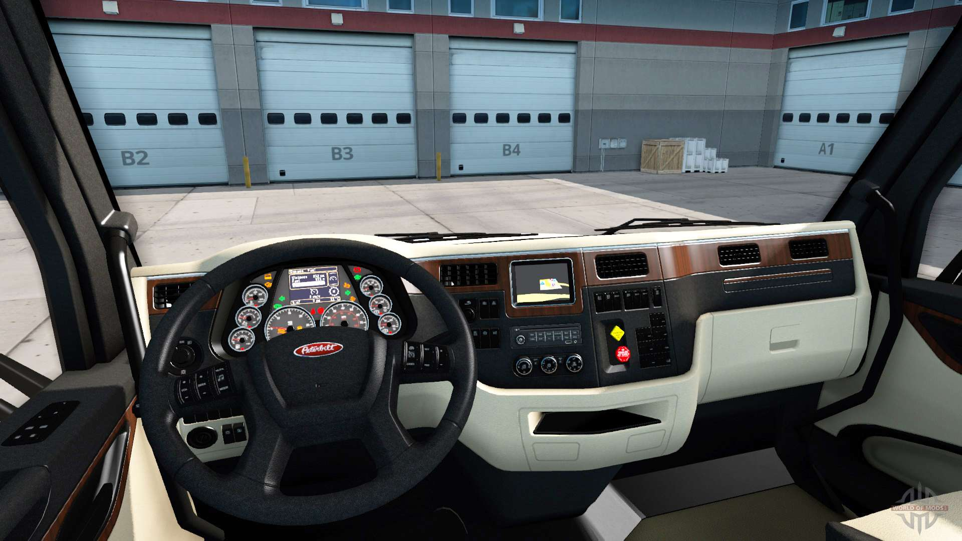 Die Luxus-Interieur in einem Peterbilt 579 für American Truck Simulator