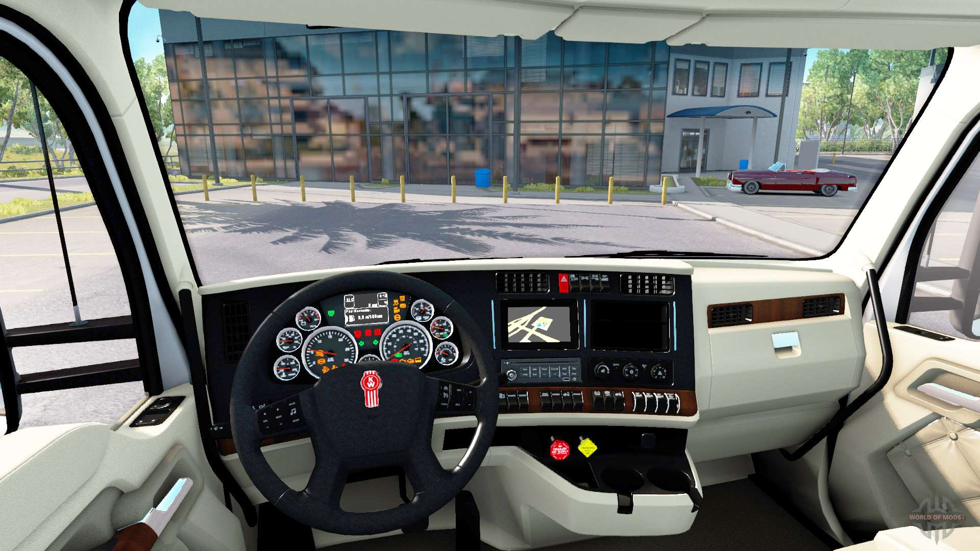 Die Luxus-Interieur in Kenworth T680 für American Truck Simulator