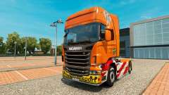 Schwertransport skin für den Scania truck