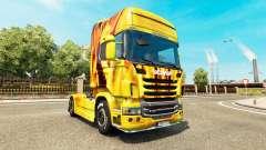 Le feu de la peau pour Scania camion