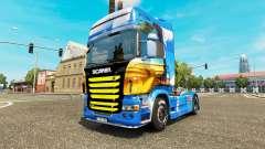 La peau de l'Île sur le tracteur Scania