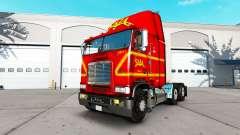 Haut auf SAIA-LKW Freightliner FLB