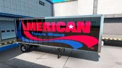 Peaux UPS et Américaine de la Remorque Fonctionn
