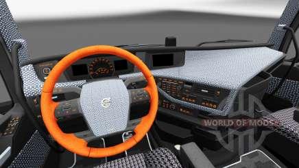 Plaid Innenraum Volvo FH für Euro Truck Simulator 2