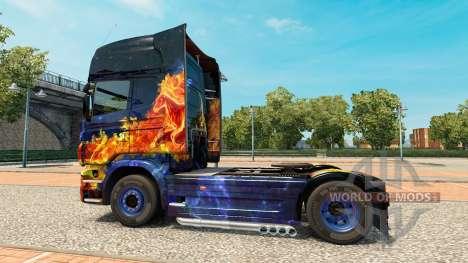 Blue Fire skin für Scania-LKW für Euro Truck Simulator 2