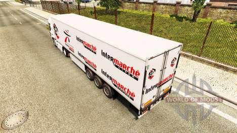 Intermarché de la peau pour Renault camion pour Euro Truck Simulator 2