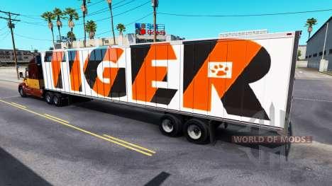 La peau de Tigre sur la remorque pour American Truck Simulator