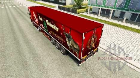 Weihnachts skin für Scania-LKW für Euro Truck Simulator 2