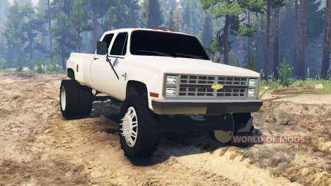Chevrolet Silverado Dually Crew Cab 1986 pour Spin Tires