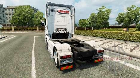 Intermarché de la peau pour Scania camion pour Euro Truck Simulator 2