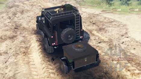 Land Rover Defender 90 Kahn 2013 für Spin Tires