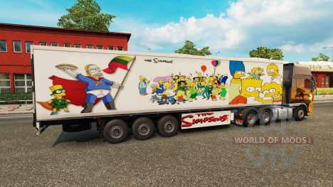 Simpsons-skin für einen trailer für Euro Truck Simulator 2